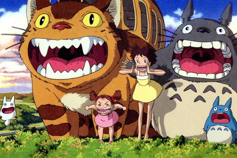 My Neighbor Totoro HD Wallpaper Orange Grey Cartoons And Lots