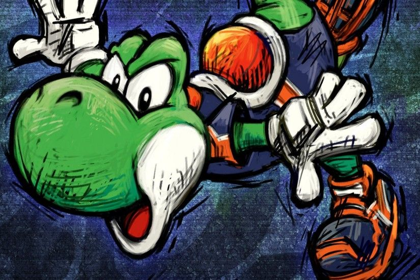 Video Game - Super Mario Strikers Yoshi Wallpaper