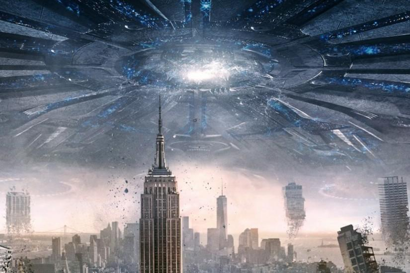 3840x1200 Wallpaper independence day resurgence, city, apocalypse