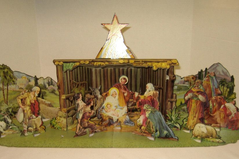 """Today in t Cardboard Nativity Pop Up"