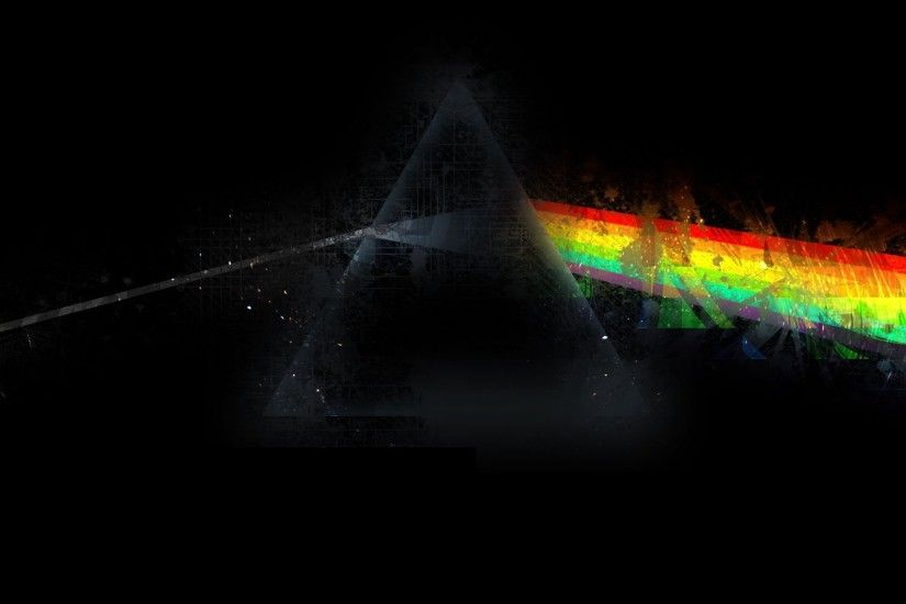 Wallpaper Pink Floyd, Triangle, Rainbow, Graphics, Background 2560x1440 :  Wallpapers13.com