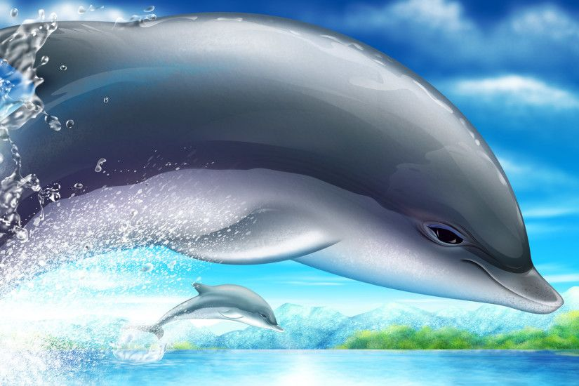 1920x1200 Animated Dolphin Wallpaper, wallpaper, Animated Dolphin Wallpaper  hd .