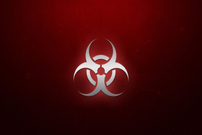 Wallpapers For > Red Biohazard Symbol Wallpaper