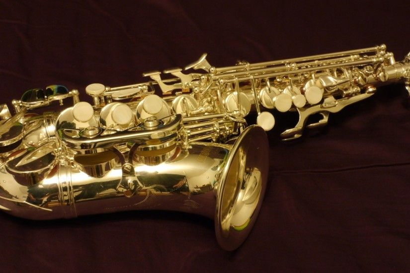 Images Saxophone Closeup Musical Instruments 2048x1152