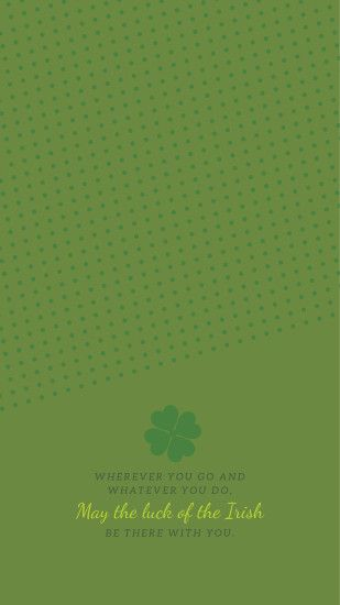 St. Patrick's Day Desktop and Phone Wallpapers. ""