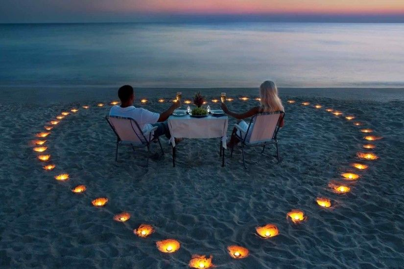 Love Couple On Beach