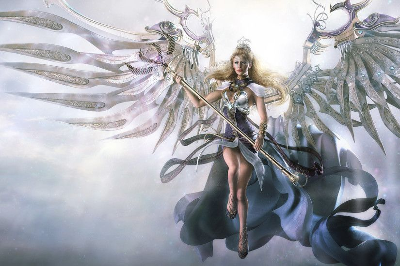 Awesome Angel 3D Fantasy Wallpaper HD Widescreen.