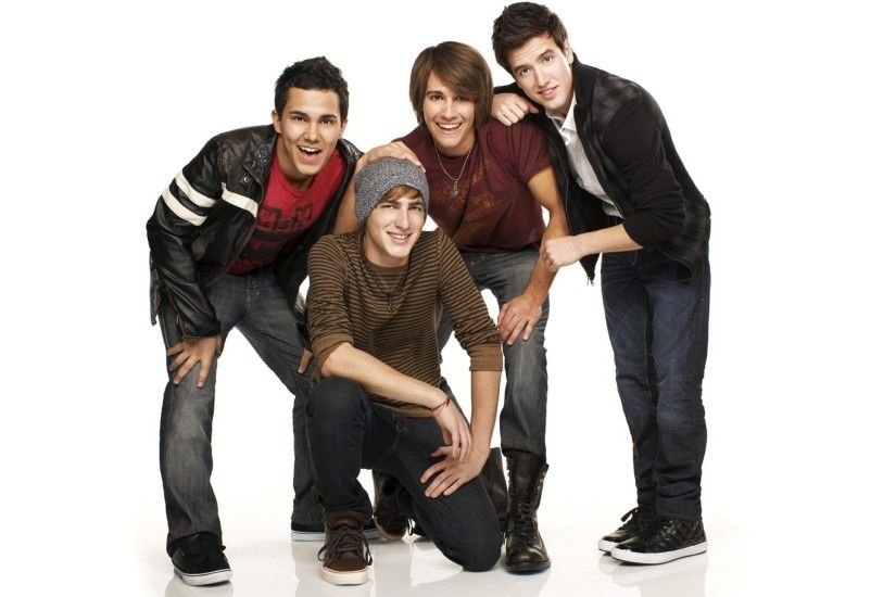 2560x1440 Wallpaper big time rush, smile, band, cap, hair