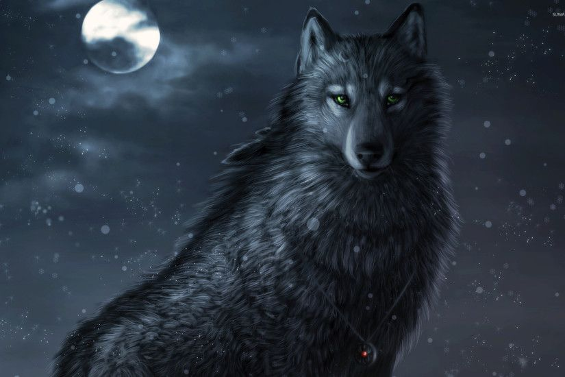 Dark wolf wallpaper