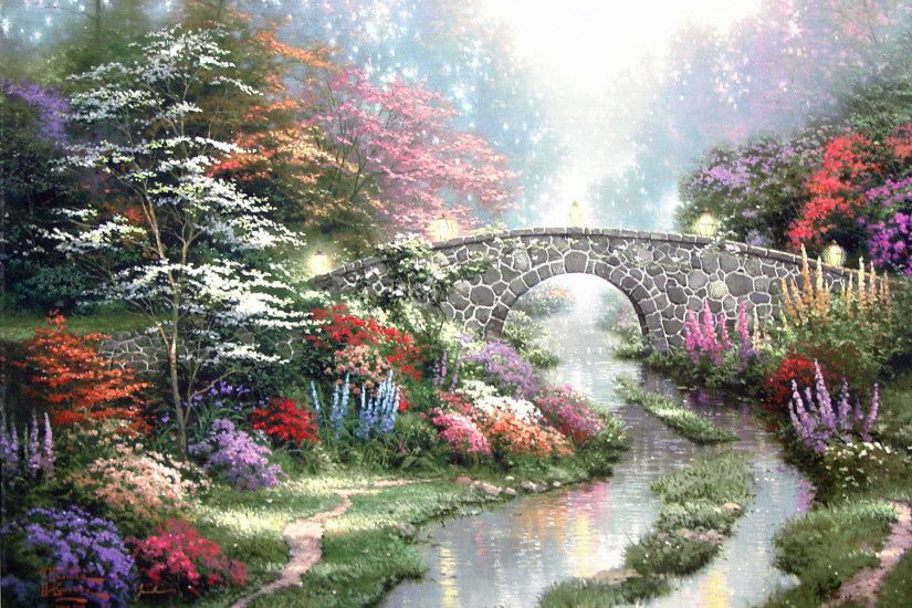 Stillwater Bridge by Thomas Kinkade