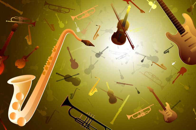 Classical Music Instruments Wallpaper