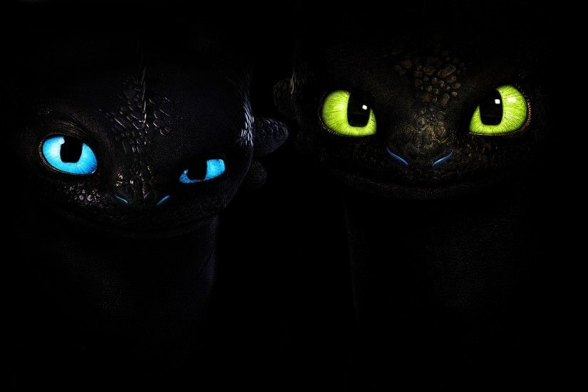 Wallpaper How to Train Your Dragon Cartoons Staring Black background Glance