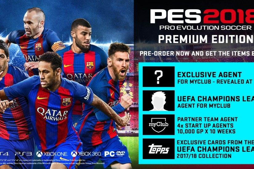 "Pro Evolution Soccer on Twitter: ""Lots of rewards and bonus items for  pre-ordering digital and physical versions of #PES2018, including a secret  exclusive ..."