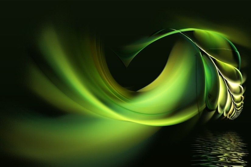 Preview wallpaper black, white, abstract, pen, water, green 1920x1080