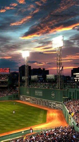 Baseball stadium in the sunset