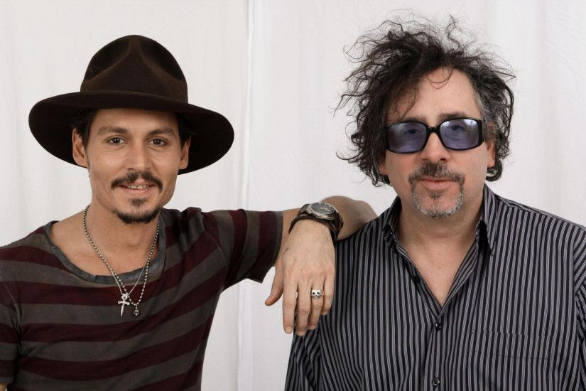 1920x1080 Wallpaper johnny depp, tim burton, actor, director, celebrities,  colleagues