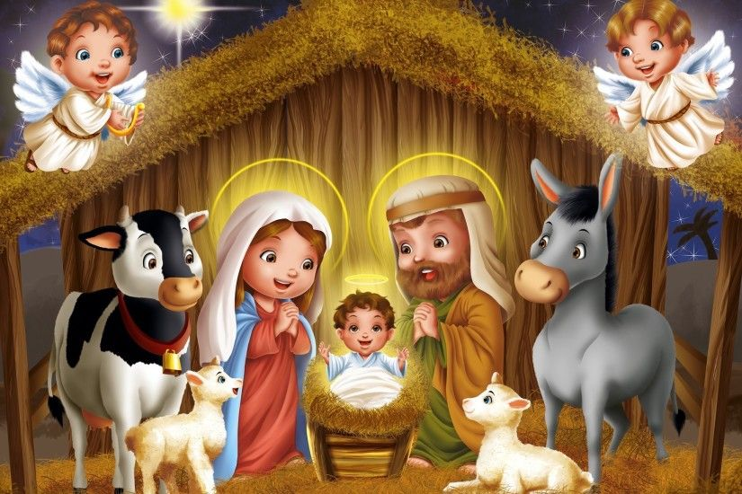 Christmas Story Birth Of Jesus Christ Hd wallpaper