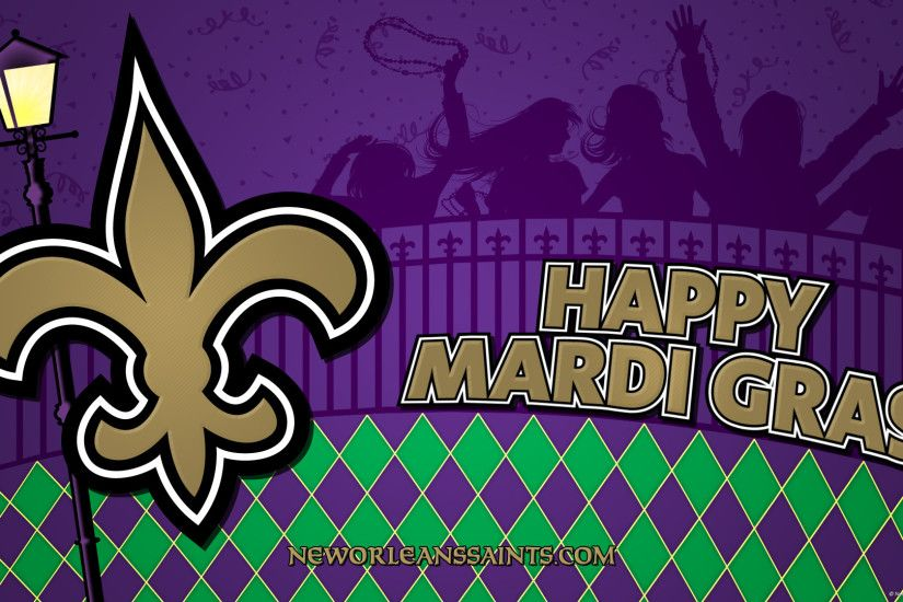 nfl new orleans saints happy mardi gras
