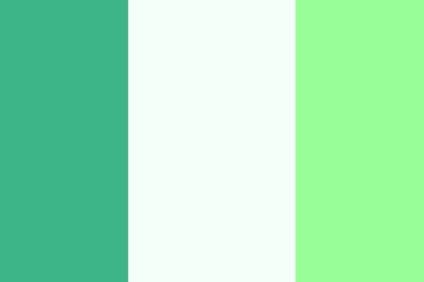 2560x1440 Mint, Mint Cream and Mint Green Three Color Background