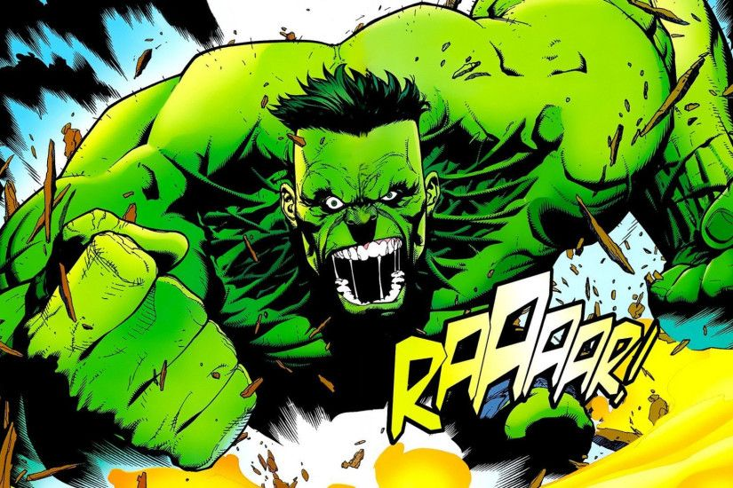 Preview wallpaper marvel comics, hulk, art 2048x1152