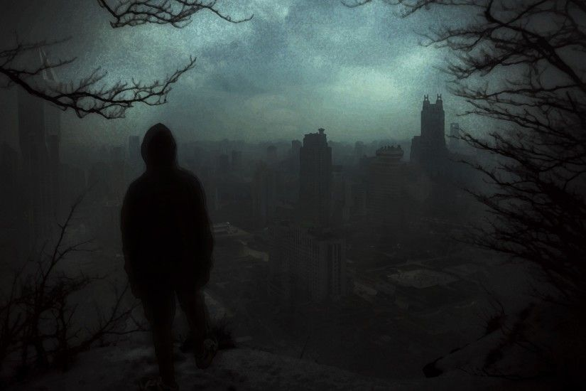 Shanghai, Rear view, Dark, Alone, Trees, Forest, Nightmare Wallpapers HD /  Desktop and Mobile Backgrounds