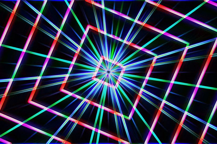 Neon lights squares tunnel star background loop - 1080p Motion Background -  VideoBlocks