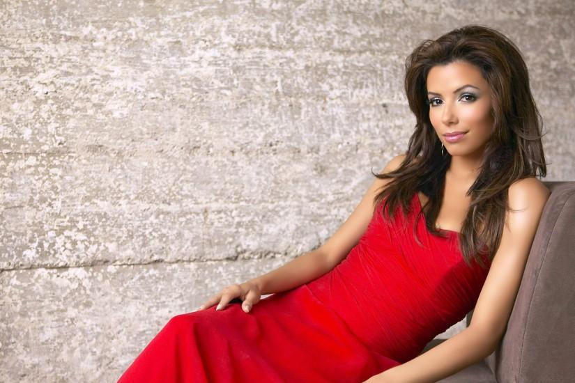 Eva Longoria wearing a Sexy Red Dress at Photoshoot 3840x2160 wallpaper