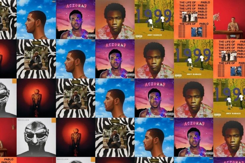 Download this free wallpaper with images of Freddie Gibbs – Pinata, Drake –  Nothing Was The Same, Chance The Rapper – Acid Rap, Childish Gambino –  Because ...