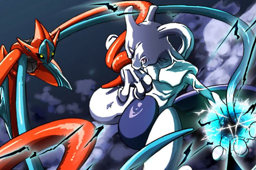 Pokemon Deoxys Vs Mewtwo HD Wallpaper by tommospidey.deviantart.com on  @deviantART