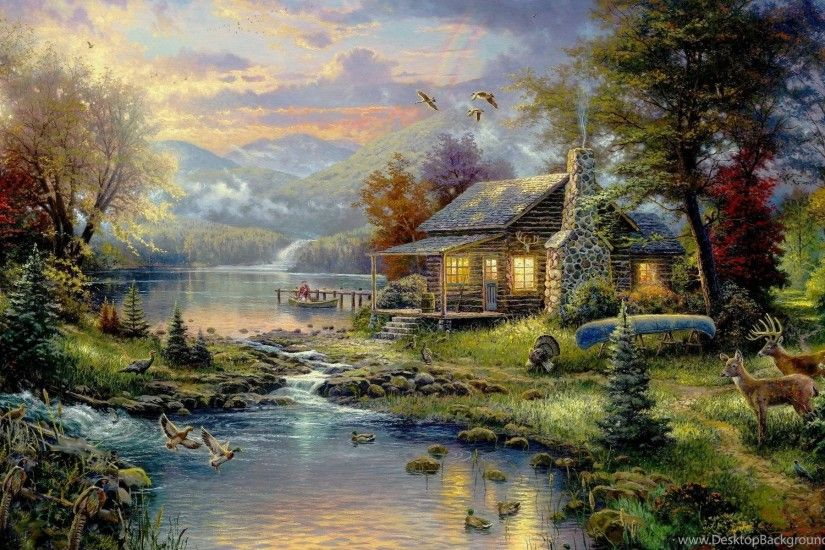 Country House Wallpaper, Art, Paintings