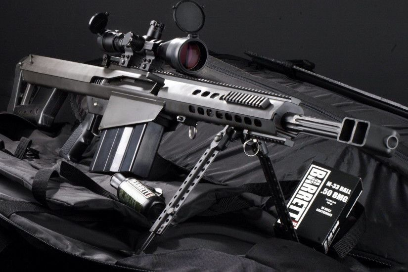 Barrett 50 Cal Sniper Rifle, now thats one I would love to own