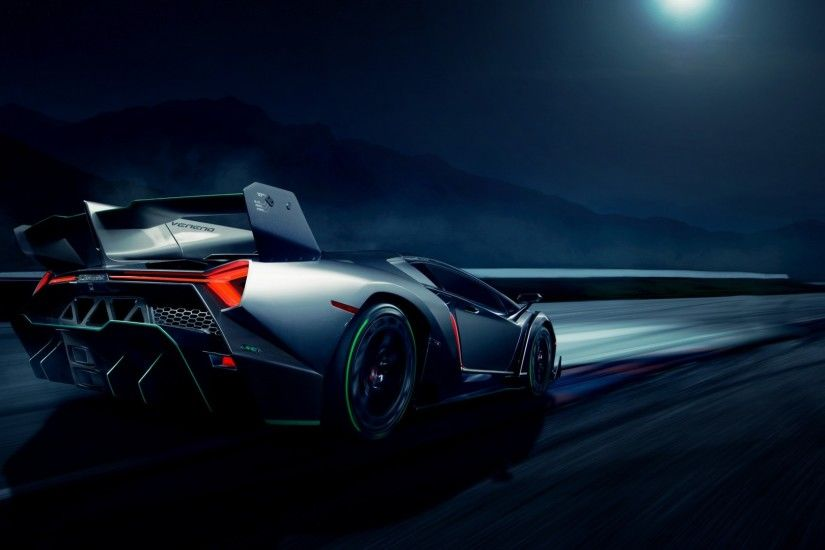 Wallpaper Lamborghini Veneno, Rear view, HD, Lamborghini, Supercar,  Automotive / Cars, #1526