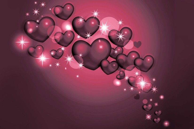 cool 3d hearts hd wallpaper