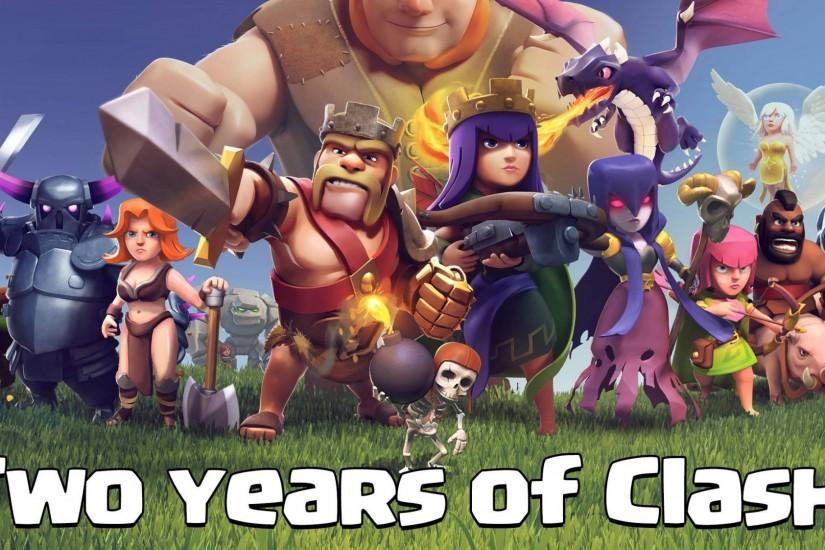 free clash of clans wallpaper 2500x1123 for 4k