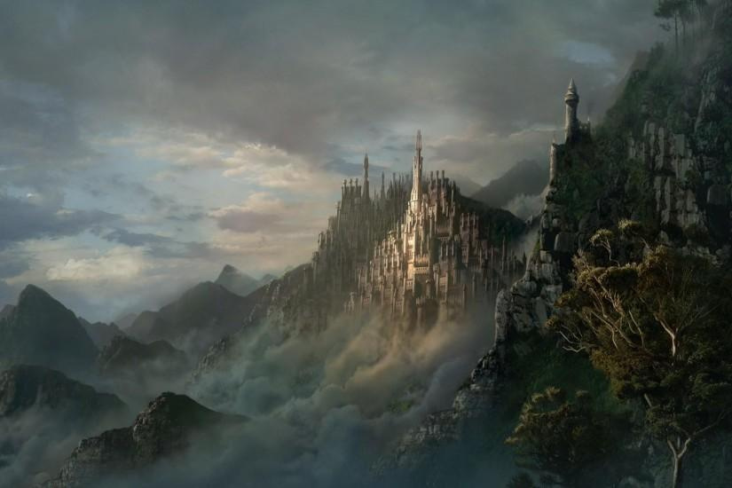 Wallpapers For > Fantasy Castle Landscape Backgrounds