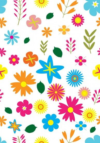 Floral Wallpaper Colorful Pattern
