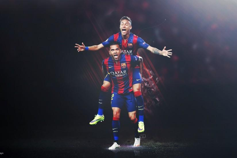 Dani Alves Neymar FC Barcelona Wallpaper