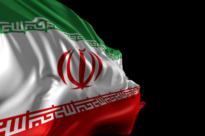 Flag of iran beautiful animation revealing iran flag with alpha channel