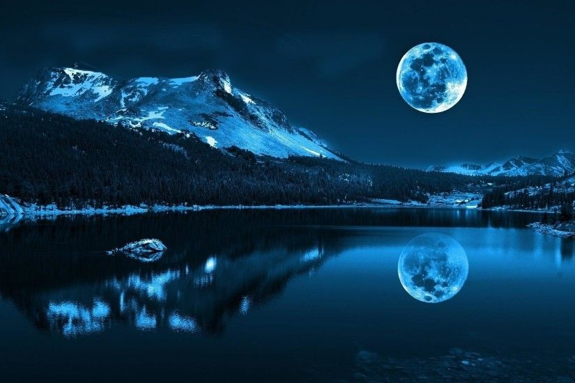 ... Blue Night Time - Sky & Nature Background Wallpapers on Desktop .