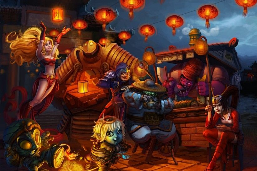 fanart league of legends janna akali tristana amumu talon jax dr. mundo  blitzcrank lamps asia