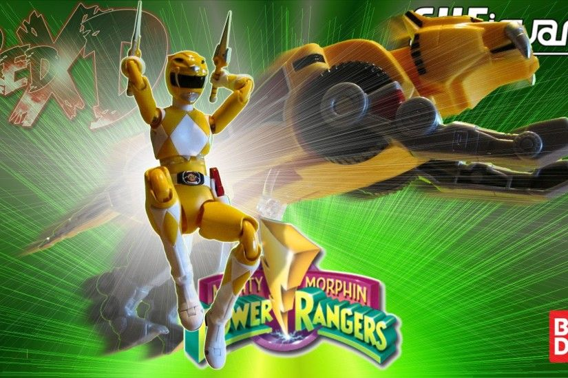 Bandai S.H. Figuarts, Mighty Morphin Power Rangers MMPR Yellow Ranger  action figure in-depth look