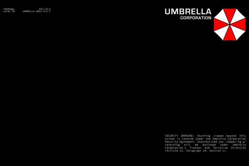 Umbrella Corporation terminal login : Desktop and mobile wallpaper .