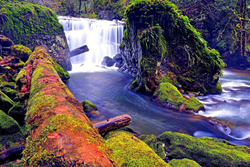 Colorful Waterfalls Desktop Backgrounds