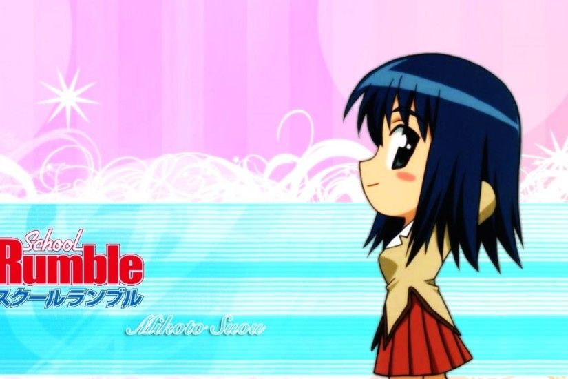 1920x1080 Wallpaper school rumble, girl, brunette, skirt, side view