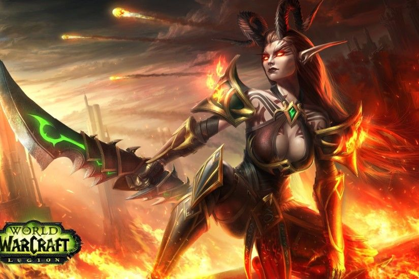 Demon Hunter, World of Warcraft, World of Warcraft: Legion, Fantasy girl,  Video games Wallpapers HD / Desktop and Mobile Backgrounds