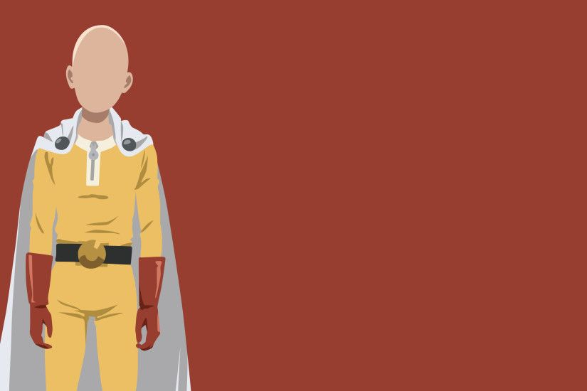 One Punch Man, Saitama, Minimalism, Anime Wallpaper