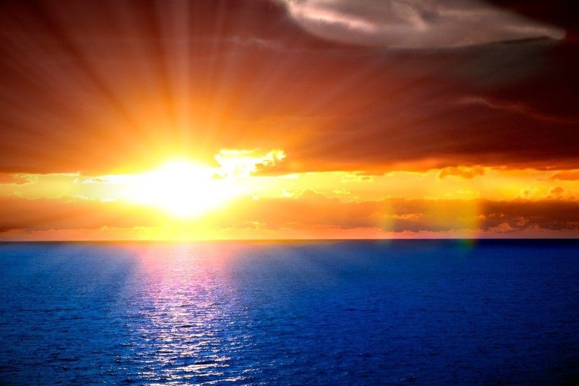 Beautiful sunset · Sunset On The Ocean Wallpaper ...