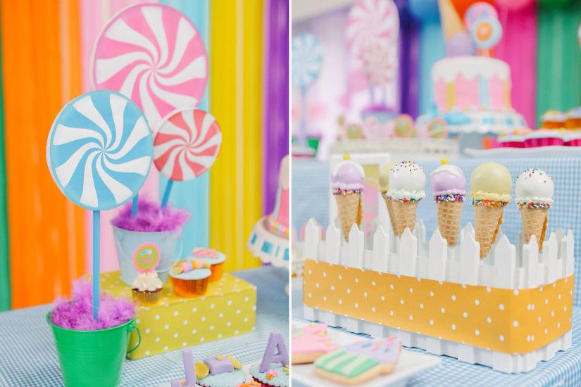 Candyland Themed Dessert Table Balloon Set-up: Hazel Reyes Dessert Table  set-up