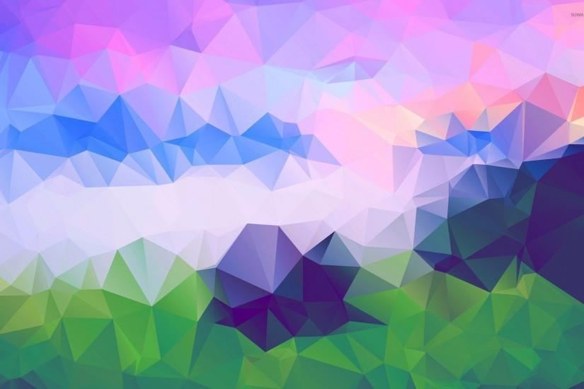 Colorful triangles [2] wallpaper 1920x1200 jpg
