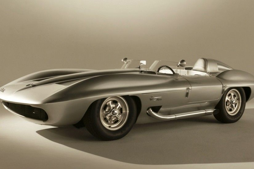 Preview wallpaper chevrolet, corvette, stingray, concept car, 1959 3840x2160